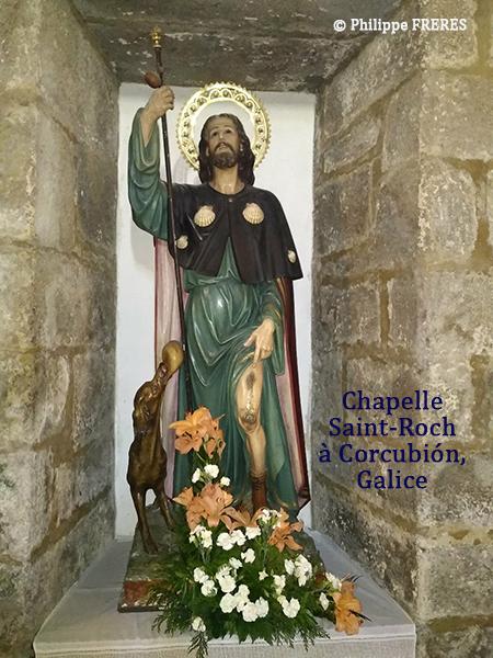 Chapelle de Saint-Roch à Corcubión, Galice
