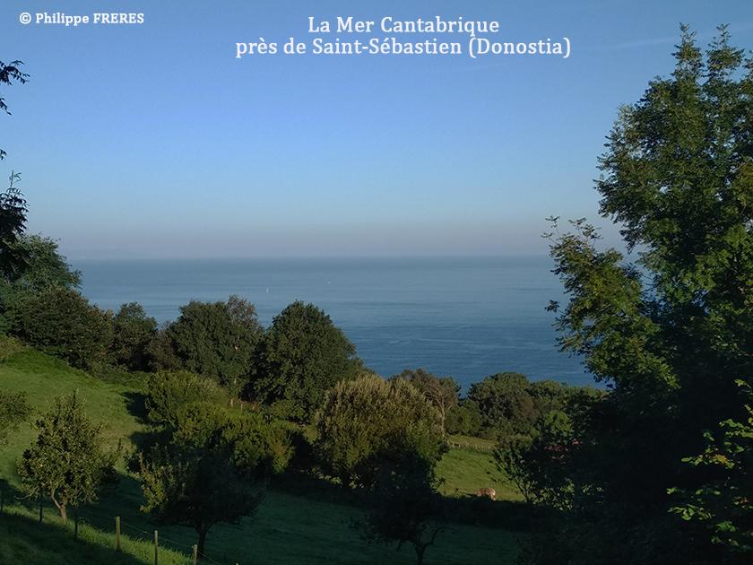 La mer Cantabrique près de Saint-Sébastien (Donostia) 840