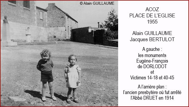 Acoz, place de l'église vers 1955 640