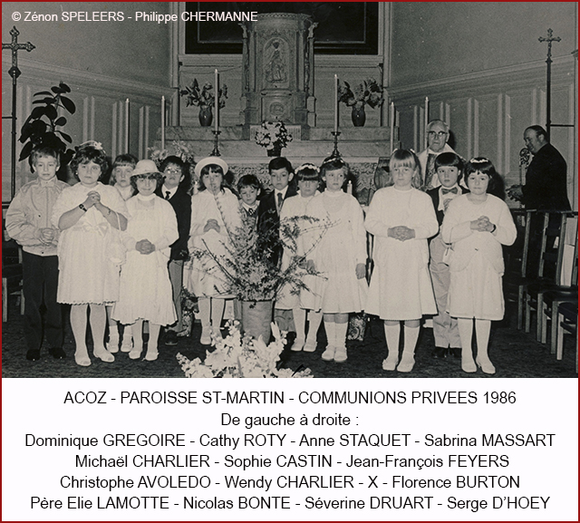 COMMUNION PRIVEE 1986 1 CHERM 640