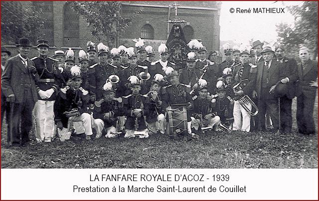 Fanfare d'acoz à Couillet 1939 640