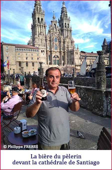 Bière pèlerin cathédrale Santiago 450