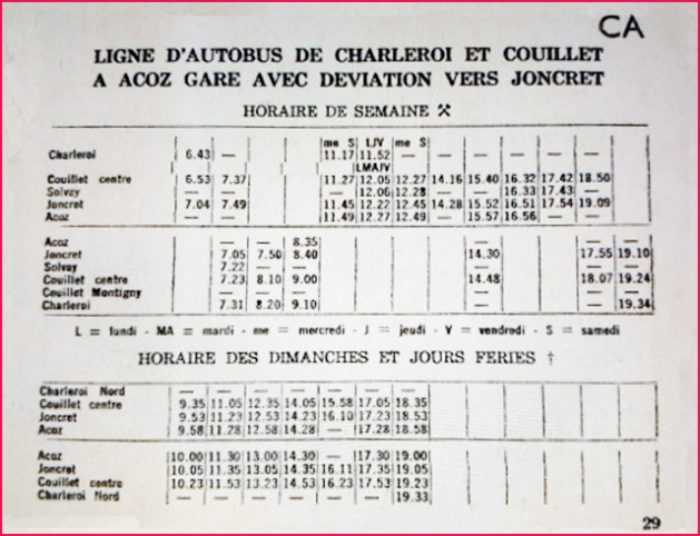 horaire 640